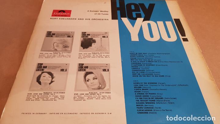 Discos de vinilo: KURT EDELHAGEN & HIS ORCHESTRA / HEY YOU / LP - POLYDOR-ALEMANIA / MBC. ***/*** - Foto 2 - 153105226