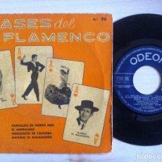 Discos de vinilo: LOS ASES DEL FLAMENCO SELECCION N.º 26 - EP 1960 - ODEON. Lote 153121690