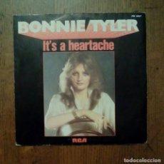 Discos de vinilo: BONNIE TYLER - IT'S A HEARTACHE, RCA, 1977. FRANCE.. Lote 153131622