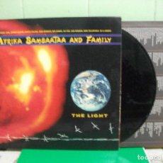 Discos de vinilo: AFRIKA BAMBAATAA AND FAMILY - THE LIGHT (LP, ALBUM, GATEFOLD ) 1988 . Lote 153131802