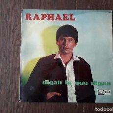 Discos de vinilo: DISCO VINILO LP RAPHAEL, DIGAN LO QUE DIGAN. EMI LCLP 1.447 AÑO 1967. Lote 153140234