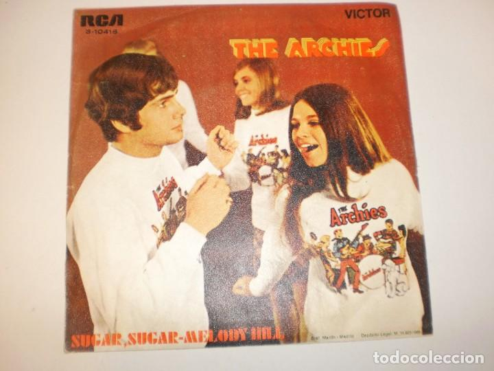 Discos de vinilo: single the archies.sugar, sugar. melody hill. rca 1969 spain (disco probado y bien) - Foto 2 - 153157086