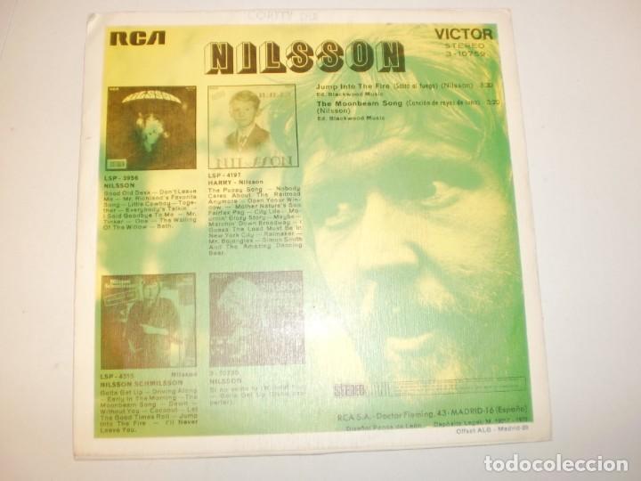 Discos de vinilo: single nilsson. jump into the fire. the moonbeam song. rca 1972 spain (probado y bien, seminuevo) - Foto 2 - 153181154
