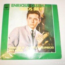 Discos de vinilo: ENRIQUE GUZMÁN CON LOS SALVAJES. CELOS DE TI. OYE NIÑA. CARIÑO Y DESPRECIO. TRISTE CBS 1963 SPAIN. Lote 153183390