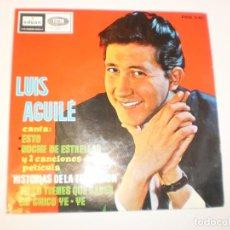 Discos de vinilo: SINGLE LUIS AGUILÉ. ESTO. NOCHE DE ESTRELLAS. TÚ LO TIENES QUE SABER. UN CHICO YE-YE EMI 1965 SPAIN. Lote 153189894