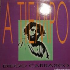 Discos de vinilo: DIEGO CARRASCO / A TIEMPO (LP) 1991 (POLYDOR). Lote 153204638