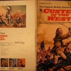 Discos de vinilo: CUSTER OF THE WEST-LA GRAN AVENTURA BSO 1966. Lote 153207002
