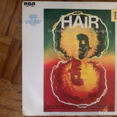 Discos de vinilo: HAIR - THE AMERICAN TRIBAL LOVE-ROCK MUSICAL = VERSIÓN ORIGINAL DE LA COMEDIA MUSICAL DE BROADWAY . Lote 153214962