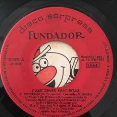 Discos de vinilo: REGOLI EP DISCO SORPRESA FUNDADOR AÑO 1965. Lote 153215110