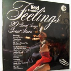 Discos de vinilo: FEELINGS. 20 GREAT SONGS GREAT STARS. LP. K TEL INTERNATIONAL. Lote 153250982