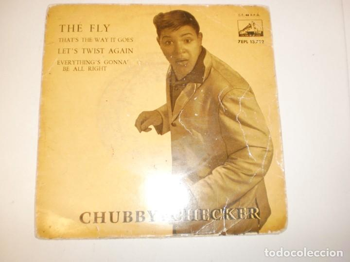 SINGLE CHUBBY CHECKER THE FLY.THAT'S THE WAY GOES. LETS'S TWIST AGAIN. EVERYTHING'S GONNA' EMI 1962 (Música - Discos - Singles Vinilo - Pop - Rock Extranjero de los 50 y 60)