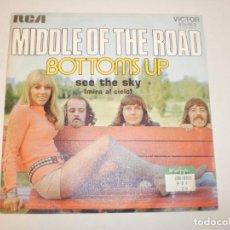 Discos de vinilo: SINGLE MIDDLE OF THE ROAD. BOTTOMS UP. SEE THE SKY. RCA 1972 SPAIN (PROBADO Y BIEN, SEMINUEVO). Lote 153268058