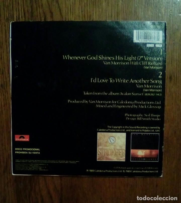 Discos de vinilo: Van Morrison with Cliff Ricard, Whenever god shines his light, Polydor, 1989. Spain. - Foto 2 - 153272918