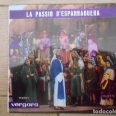 Discos de vinilo: DISCO SINGLE DE VINILO , LA PASSIO D`ESPARRAGUERA , 1964 .. Lote 153276286