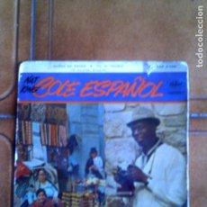 Discos de vinilo: DISCO DE NAT KING COLE ,CANTA EN ESPAÑOL. Lote 153306206