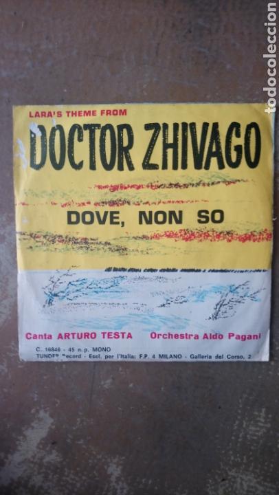 Discos de vinilo: Ciao Italia - Arturo testa / aldo pagani. Doctor zhivago - dove, non so. Single tunder record - Foto 2 - 153313348
