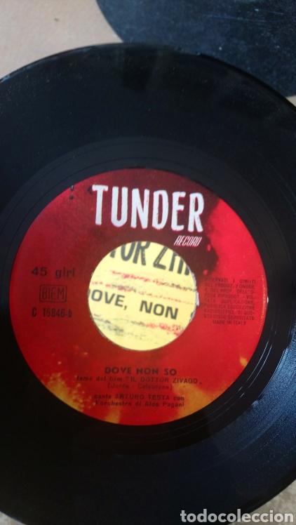 Discos de vinilo: Ciao Italia - Arturo testa / aldo pagani. Doctor zhivago - dove, non so. Single tunder record - Foto 3 - 153313348