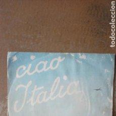 Discos de vinilo: CIAO ITALIA - ARTURO TESTA / ALDO PAGANI. DOCTOR ZHIVAGO - DOVE, NON SO. SINGLE TUNDER RECORD. Lote 153313348