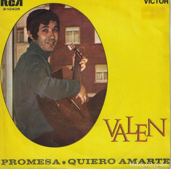 VALEN - PROMESAS / QUIERO AMARTE (SINGLE ESPAÑOL, RCA 1969) (Música - Discos de Vinilo - Maxi Singles - Solistas Españoles de los 50 y 60)