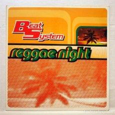 Discos de vinilo: BEAT SYSTEM - REGGAE NIGHT - MAX MUSIC 1996 - DISCO DE VINILO MAXI-SINGLE. Lote 153333758