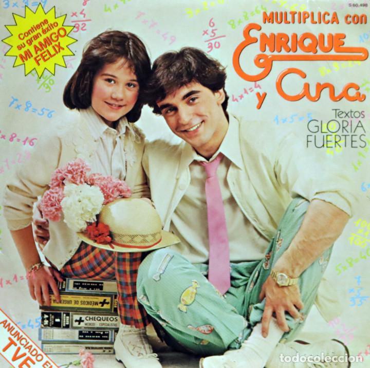 ENRIQUE Y ANA / MULTIPLICA CON... (LP) 1980 (HISPAVOX) (Música - Discos - LPs Vinilo - Música Infantil)