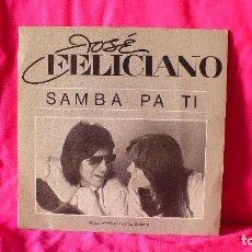 Discos de vinilo: JOSE FELICIANO --SAMBA PA TI / NO HAY SOMBRA QUE ME CUBRA, MOTOWN 1982.. Lote 153348438