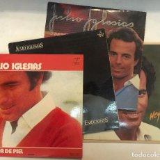 Discos de vinilo: LOTE VINILO LP JULIO IGLESIAS. 5 LP. A FLOR DE PIEL - EMOCIONES - 24 ÉXITOS DE ORO ( DOBLE ) - HEY !. Lote 153362854