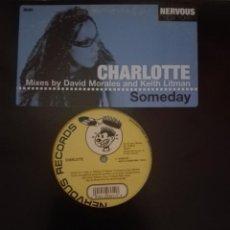 Discos de vinilo: CHARLOTTE SOMEDAY MIXES BY DAVID MORALES. Lote 153369510