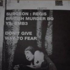 Discos de vinilo: SURGEON REGIS BRITISH MURDER BOYS BMB3. Lote 153370530