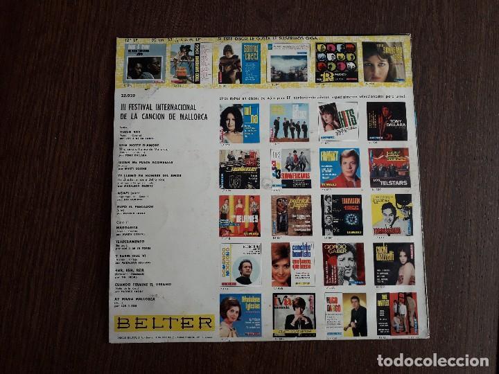 Discos de vinilo: disco vinilo LP III festival internacional de la canción, el mundo canta a Mallorca. Belter año 1966 - Foto 2 - 153371822