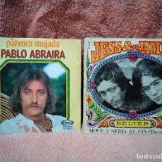 Discos de vinilo: DOS SINGLES EXITOS DE AYER. Lote 153379598