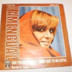 Discos de vinilo: SINGLE NUCHA AMENGUAL QUÉ PUEDO DECIRTE AMOR QUE TÚ NO SEPAS. RECIÉN TE FUISTE. EMI 1974 SPAIN. Lote 153380078