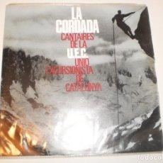 Discos de vinilo: SINGLE LA CORDADA CANTAIRES DE LA UEC (UNIÓ EXCURSIONISTA DE CATALUNYA) EDIGSA 1967 (BON ESTAT). Lote 153385798