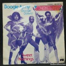 Discos de vinilo: CHOSEN FEW - BOOGIE ARMY BOOGIE DOWN - SINGLE - ESPAÑA - ARIOLA - 1979 - NO USO CORREOS. Lote 153396558
