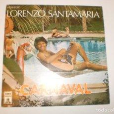 Discos de vinilo: SINGLE LORENZO SANTAMARÍA. CARNAVAL. FUEGO. EMI 1979 SPAIN (PROBADO Y BIEN). Lote 153403282
