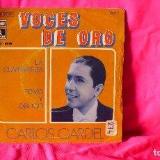 Discos de vinilo: CARLOS GARDEL -- LA CUMPARSITA / TOMO Y OBLIGO, EMI ODEON 1971.. Lote 153424802