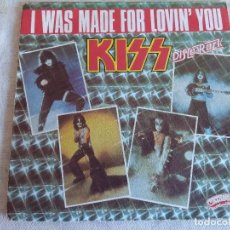 Discos de vinilo: SINGLE/KISS/I WAS MADE FOR LIVING YOU.. Lote 153425250