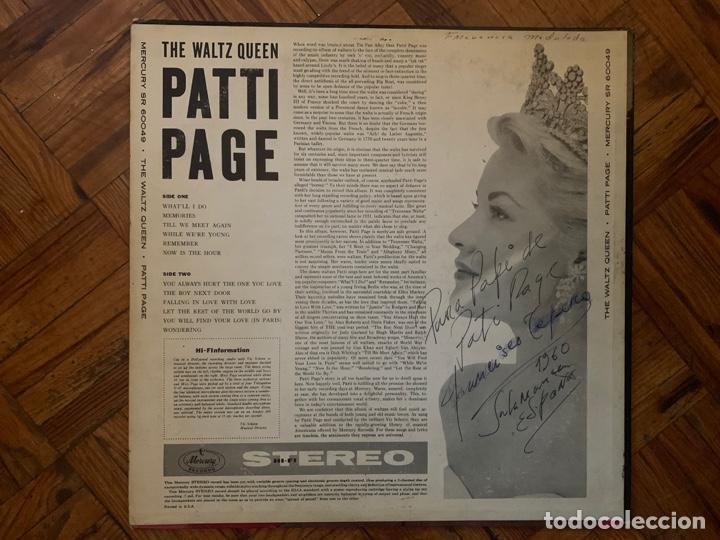 Discos de vinilo: Patti Page ?– The Waltz Queen Sello: Mercury ?– SR 60049 Formato: Vinyl, LP, Stereo País: US - Foto 5 - 153477822