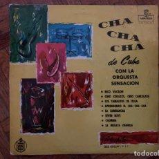 Discos de vinilo: ORQUESTA SENSACIÓN ?– CHA-CHA-CHÁ DE CUBA SELLO: MONTILLA ?– LPS - 1 FORMATO: VINYL, 10 , ALBUM . Lote 153478926