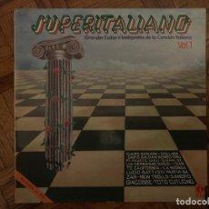 Discos de vinilo: SUPERITALIANO VOL 1 SELLO: K-TEL ?– SL 1018 FORMATO: VINYL, LP, COMPILATION PAÍS: SPAIN FECHA: 1980. Lote 153482518