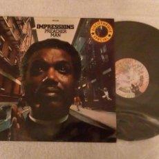 Disques de vinyle: VINILO IMPRESSIONS. PREACHER MAN. LP. 1973.. Lote 152480566