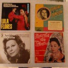 Discos de vinilo: VINILO SINGLE .LOLA FLORES,LOLITA SEVILLA,MARIFÉ, CONCHITA PIQUER.. Lote 152493802
