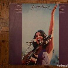 Discos de vinilo: JOAN BAEZ ?– GRACIAS A LA VIDA (HERE'S TO LIFE) SELLO: A&M RECORDS ?– 88402-I, A&M RECORDS ?– 88.402. Lote 153503434