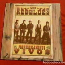 Discos de vinilo: LOS REBELDES (DISCO LP DOBLE 1987) PREFERIBLEMENTE VIVO (GRABADO EN DIRECTO AGOSTO 1986). Lote 153526398