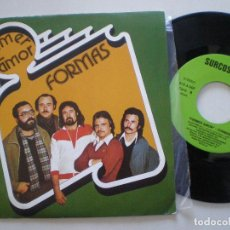 Discos de vinilo: FORMAS - PRIMER AMOR +1 - SG SURCOSUR 1981 // ROCK PROGRESIVO ANDALUZ GRUPO DE BRENES SEVILLA. Lote 153535118