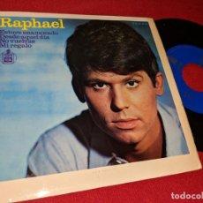 Disques de vinyle: RAPHAEL CUANDO TU NO ESTAS BSO ESTUVE ENAMORADO/DESDE AQUEL DIA/NO VUELVAS/+1 7'' EP 1966 HISPAVOX. Lote 153537458