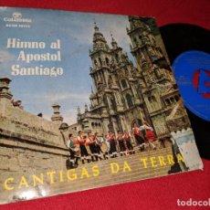 Dischi in vinile: CORO CANTIGAS DA TERRA&ESCOLANIA DECUS HIMNO AL APOSTOL SANTIAGO 7''EP 1964 COLUMBIA GALIZA. Lote 153539118
