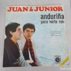 Discos de vinilo: JUAN Y JUNIOR - ANDURIÑA - SG - 1968. Lote 153556186