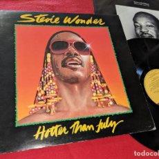 Discos de vinilo: STEVIE WONDER HOTTER THAN JULY LP 1980 TAMLA MOTOWN T373 EDICION AMERICANA USA GATEFOLD. Lote 153557430