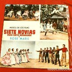 Discos de vinilo: SIETE NOVIAS PARA SIETE HERMANOS (LP 1964) BANDA SONORA ORIGINAL DEL FILM 7 NOVIAS Y ROSE MARIE. Lote 153559998